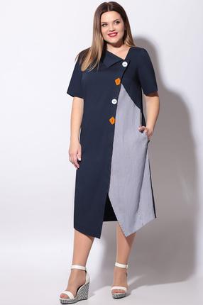 женское повседневные платье lenata, синее