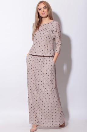 женское повседневные платье lenata, бежевое