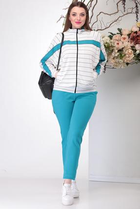 женский спортивный костюм michel chic, голубой