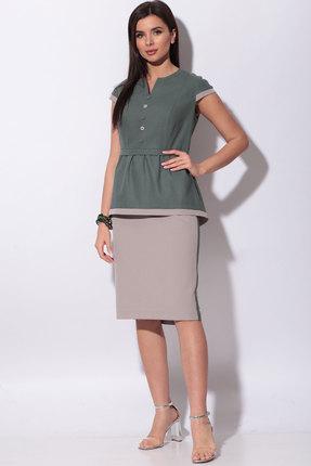 Комплект юбочный Bonna Image 514 зелёные тона+беж