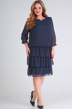 женское вечерние платье ришелье, синее