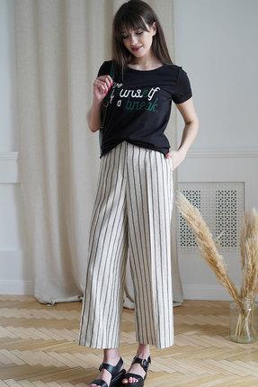 женский брючный костюм ришелье, молочный