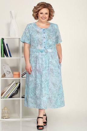 Платье Ivelta plus 1700 голубой