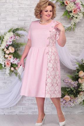 Платье Ninele 7285 пудра