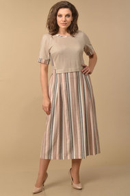 Платье Lady Style Classic 1581/7 бежевый