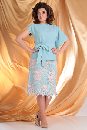 Комплект юбочный Мода-Юрс 2558 голубые тона