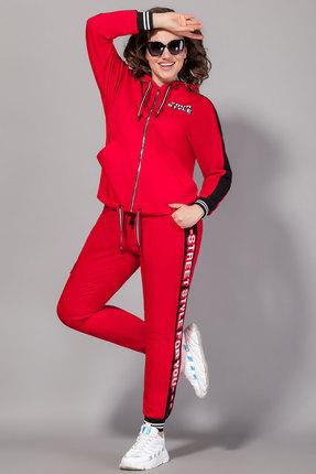 женские спортивные штаны сч@стье, красные