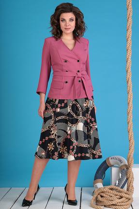 Комплект юбочный Мода-Юрс 2470-1 темно-розовые тона
