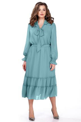 Платье TEZA 157 бирюзовые тона