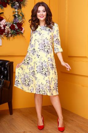 женское повседневные платье anastasia, желтое