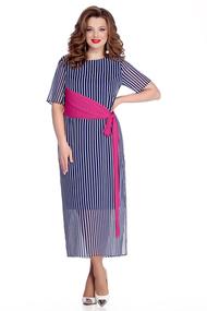 Платье TEZA 723 синий с розовым