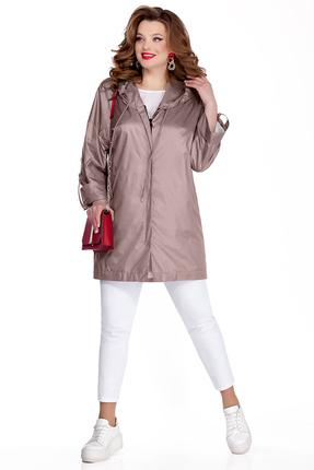 Куртка TEZA 1041 светло-коричневые тона