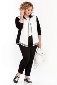 Жакет Pretty 1064 черно-белый