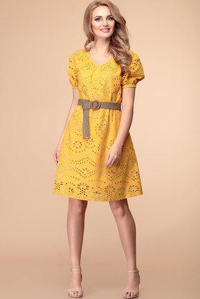 Платье Romanovich style 1-1990 горчица