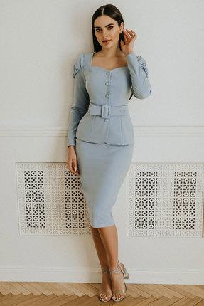 Комплект юбочный Olga Style м310 голубой