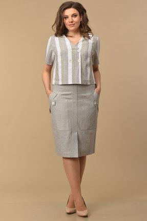 Комплект юбочный Lady Style Classic 2126 серо-зеленый