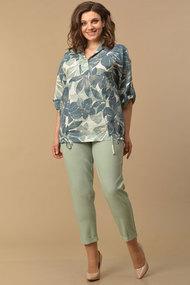 Комплект с капри Lady Style Classic 2058/1 мятный с зеленью