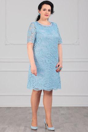Платье Мадам Рита 5065 голубой