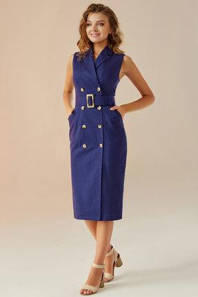 Платье Andrea Fashion AF-10 синий