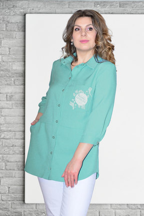 женская рубашка needle ревертекс