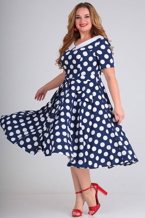 Платье SOVITA 636 синий с белым