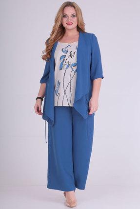 Комплект брючный Viola Style 30498 светло-синий