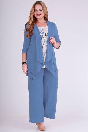 Комплект брючный Viola Style 30498 голубой