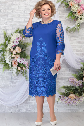 Платье Ninele 5783 василёк