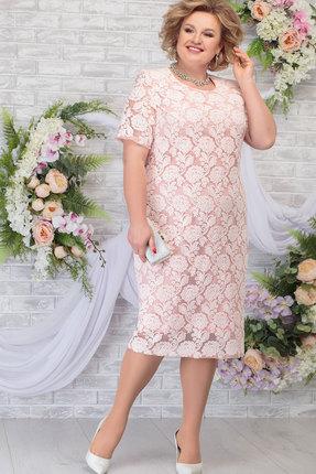 Платье Ninele 7286 пудра