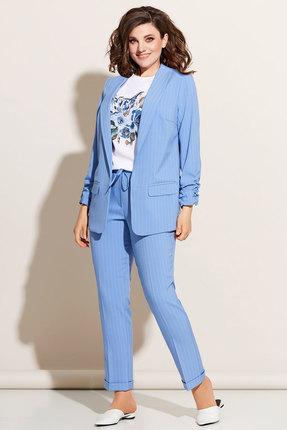 Комплект брючный Olga Style c614 голубой