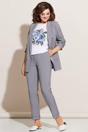Комплект брючный Olga Style c614 серый