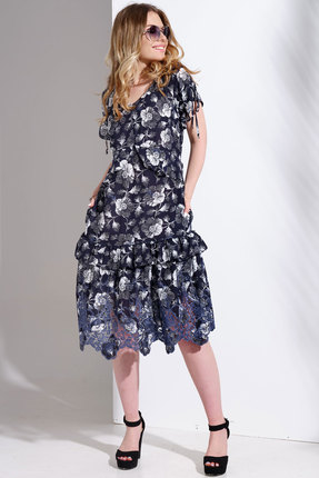 Платье Avanti Erika 1003 синие тона