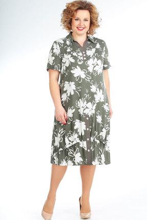 женское повседневные платье славияэлит, оливковое