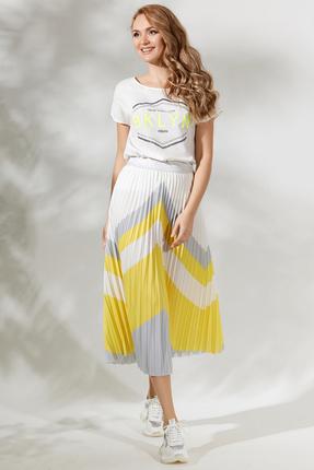 Комплект юбочный Магия Моды 1735 белый с желтым
