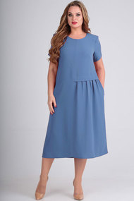 Платье Elga 01-601 голубой