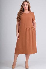 Платье Elga 01-601 коричневый