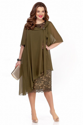 Платье TEZA 235 хаки