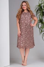 Платье SandyNa 13560 светло-коричневый