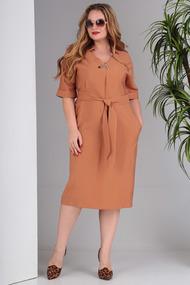 Платье SandyNa 13669 ораневые тона