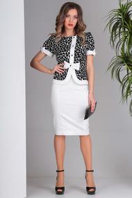 Комплект юбочный SandyNa 13697 черно-белый