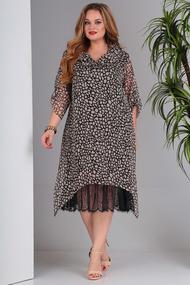 Платье SandyNa 13717 черные тона