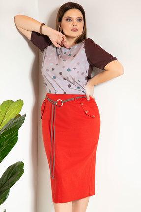 Комплект юбочный JeRusi 2059 серый с красным