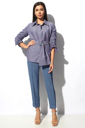 Комплект брючный Миа Мода 1154 синий с фиолетовым