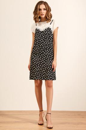 Платье Gizart 5063 черно-белый