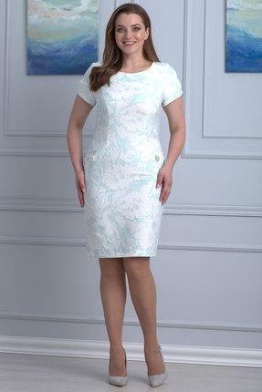 Платье Anelli 397  молочный с мятой