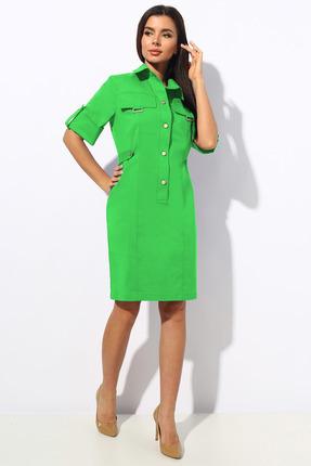 женское платье для офиса миа мода, салатовое