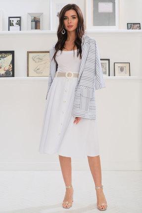 Комплект юбочный Ladis Line 1237 белый с серым