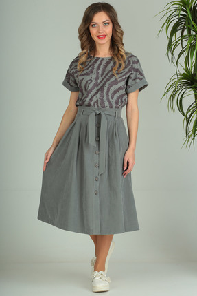 Комплект юбочный SandyNa 13694 дымчато-серый