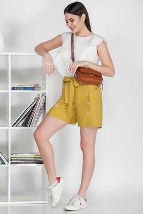 Комплект с шортами Ivelta plus 2916 желтый с молочным