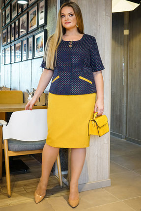 Комплект юбочный Alani 1153 синий с желтым